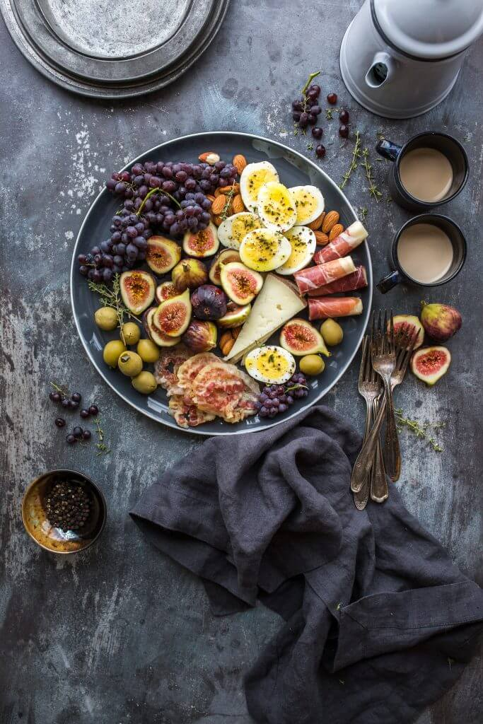 Rustic platter of real food encouraged by nutrition and lifestyle coaching