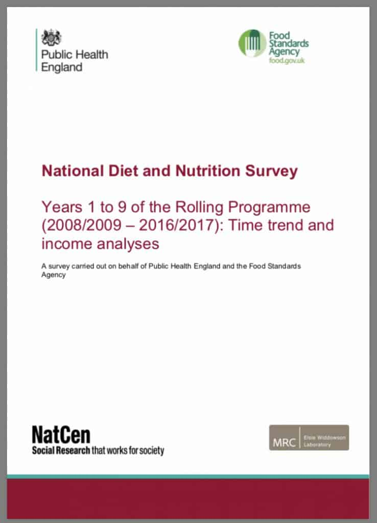 National Diet and Nutrition Survey Years 1 to 9
