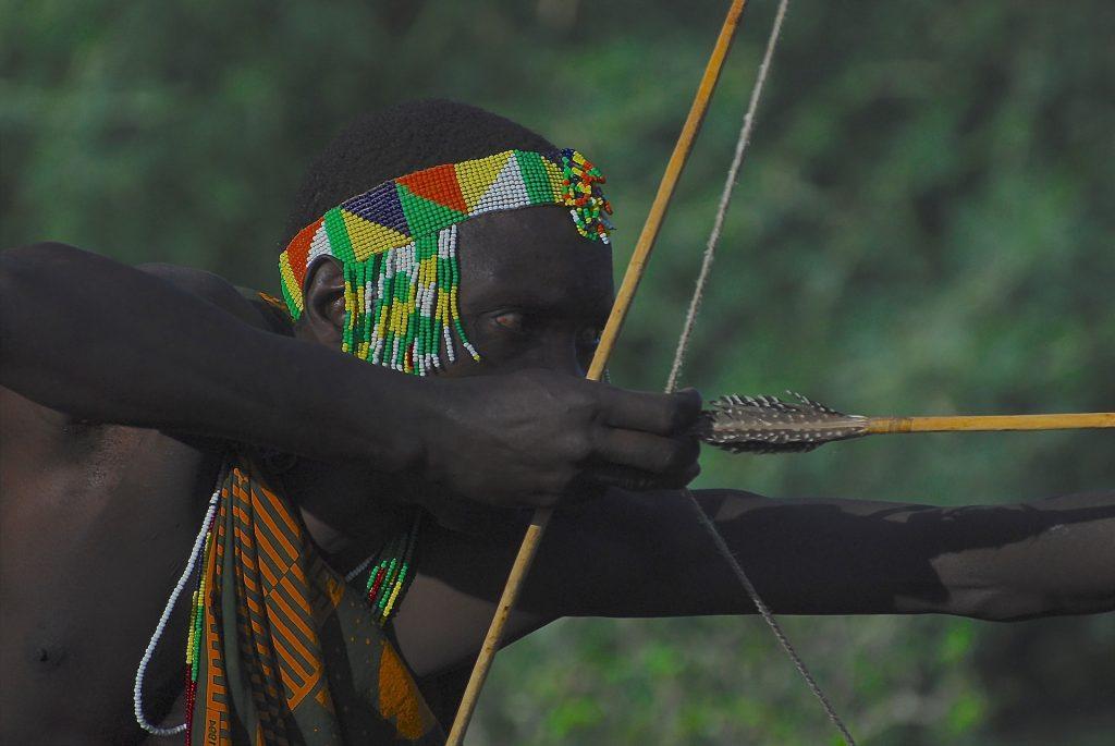 Hadza Hunter-gatherer man