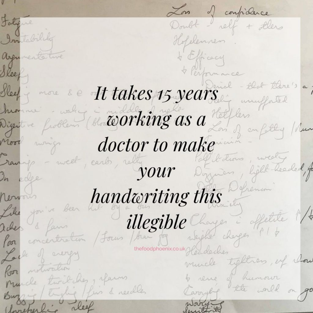 It takes 15 years working as a doctor to make your handwriting this illegible