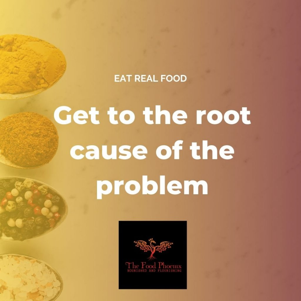 Get to the root cause of the problem quote by Dr Catriona Walsh, the Food Phoenix