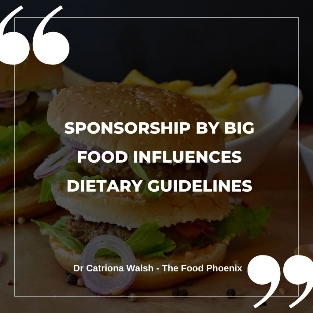 Sponsorship by Big Fppd influences dietary guidelines