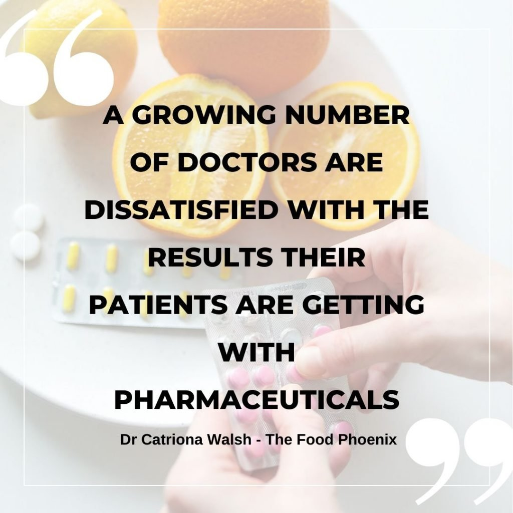 A growing number of doctors are dissatisfied with the results their patients are getting with pharmaceuticals quote by the Food Phoenix about Big Pharma