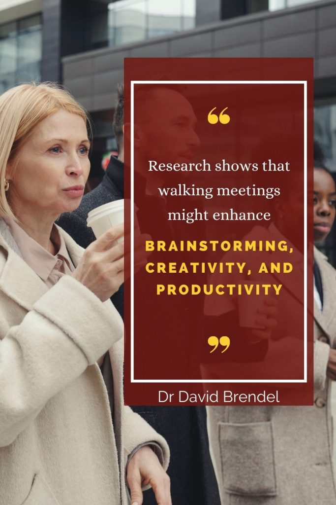 Research shows that walking meetings might enhance brainstorming, creativity, and productivity - overcoming the challenges of working from home