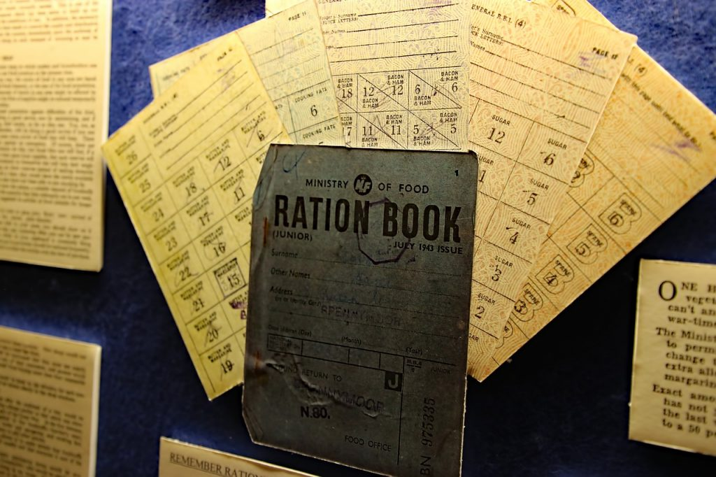 Ration book from WW2